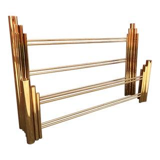 Art Deco Style Brass Skyscraper King Size Bed