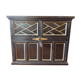 Black and Gold Expandable Bar Cabinet