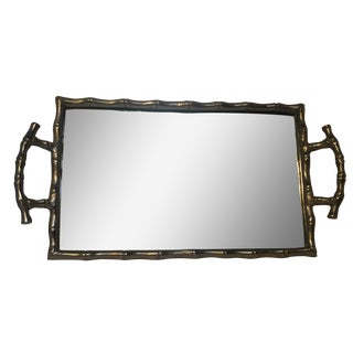 Silver Bamboo Mirrored Tray