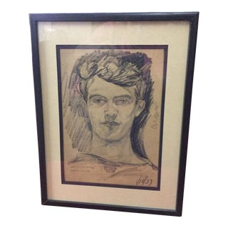 "Pascal Cucaro ""Self Portrait"" Graphite on Paper"