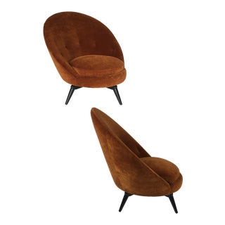 Pair of Royère Style Swivel Egg Chairs