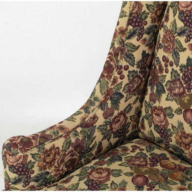 Pair Low-Arm Wing Chairs In Grosfeld House Manner - Image 8 of 9