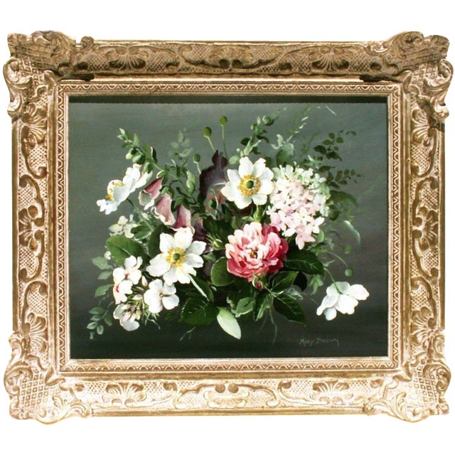 Floral Oil Painting by Mary Brown - Image 1 of 3