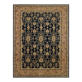 Kafkaz Sun-Faded Glynis Blue/Red Wool Rug - 9' X 12'2""