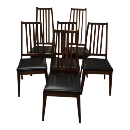 Mid 50 39 s danish modern dining chairs set of 6 chairish for Modern dining chairs ireland