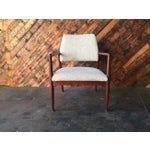 Image of Mid-Century Danish Walnut Sculpted Arm Chair