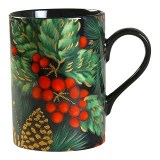 Fitz & Floyd Holiday Pine Coffee Mugs - Set of 8