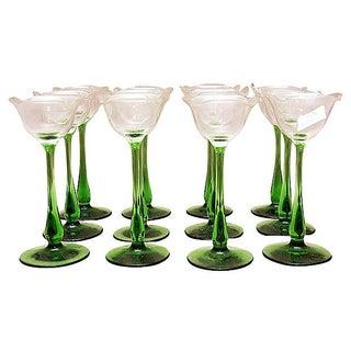 Etched Wine Cordials - Set of 12