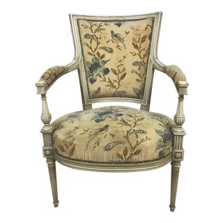 Antique French Velvet Arm Chair