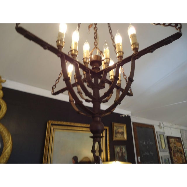 Gothic Style Brown Wrought Iron Chandelier - Image 4 of 4