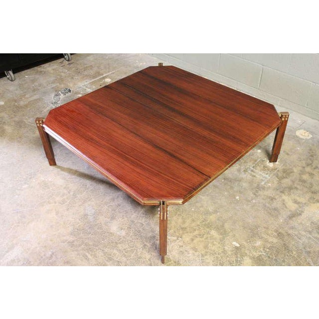 Rosewood and Brass Coffee Table - Image 9 of 10