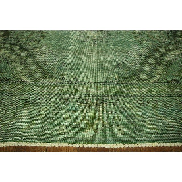 Overdyed Floral Hand Knotted Wool Rug - 9' x 12' - Image 5 of 10