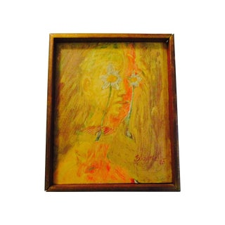 1963 Signed Modernist Painting by Allan Blizzard