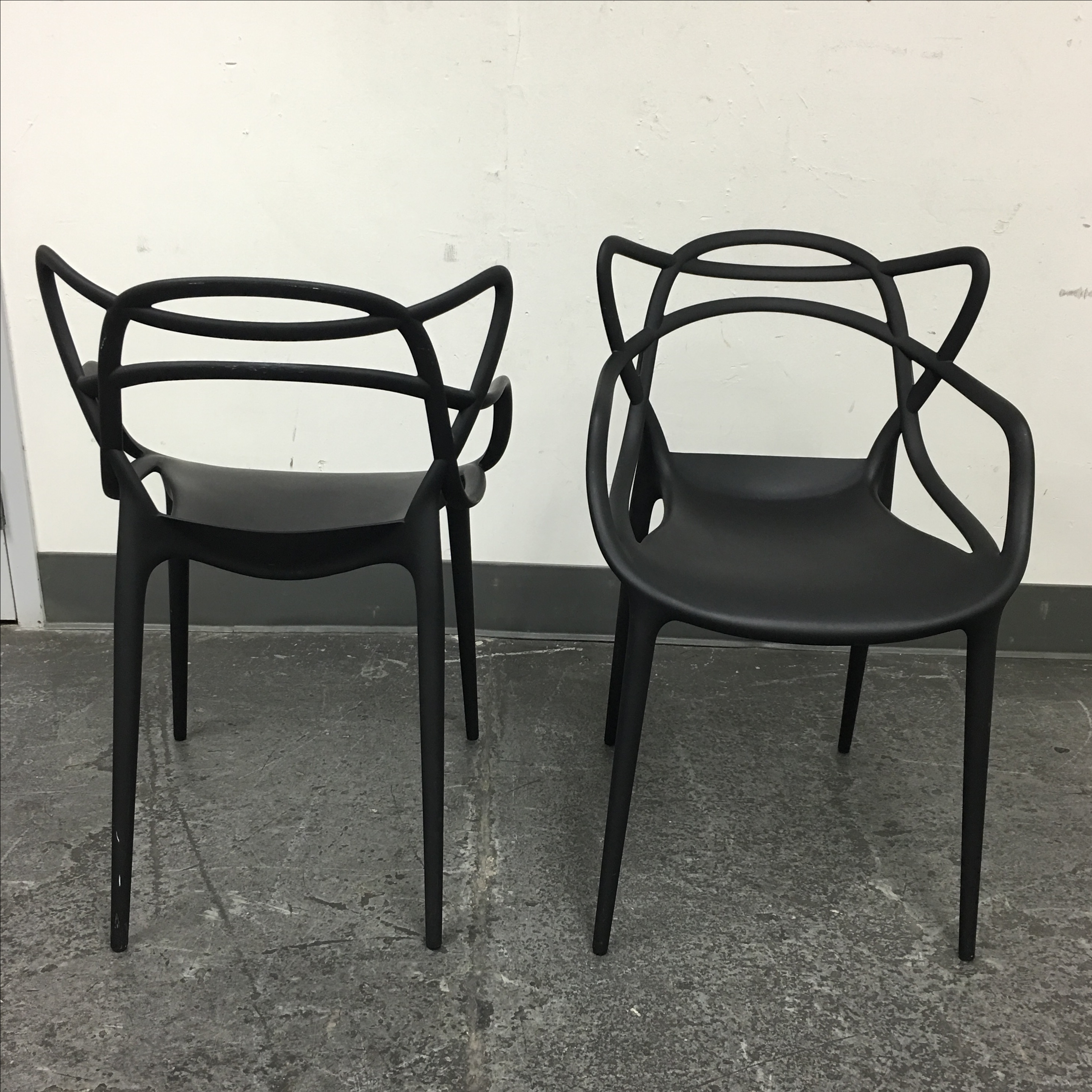 Black Kartell Masters Chairs   A Pair   Image 4 Of 8