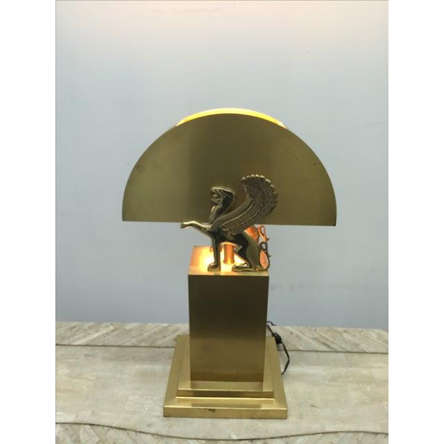 Rare Custom Lamp in the Manner of Karl Springer - Image 3 of 9