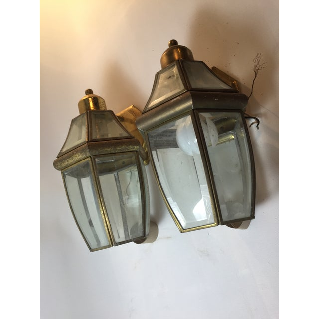 Architectural Outdoor Lanterns - Pair - Image 3 of 3