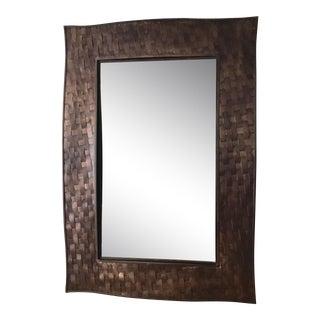 Artisan Hand Woven Metal Mirror