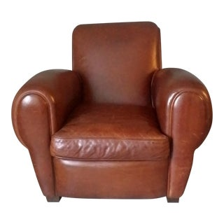 "Restoration Hardware ""Parisian"" Leather Chair"