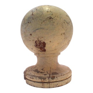 Antique Architectural Salvage Wood Finial