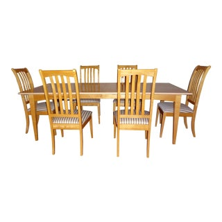 Stanley Craftsmen Dining Table & 6 Chairs
