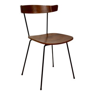 Mid-Century Plywood Walnut Chair