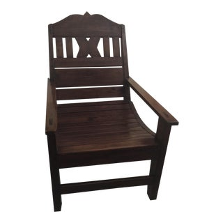 Solid Wood Plantation Chair