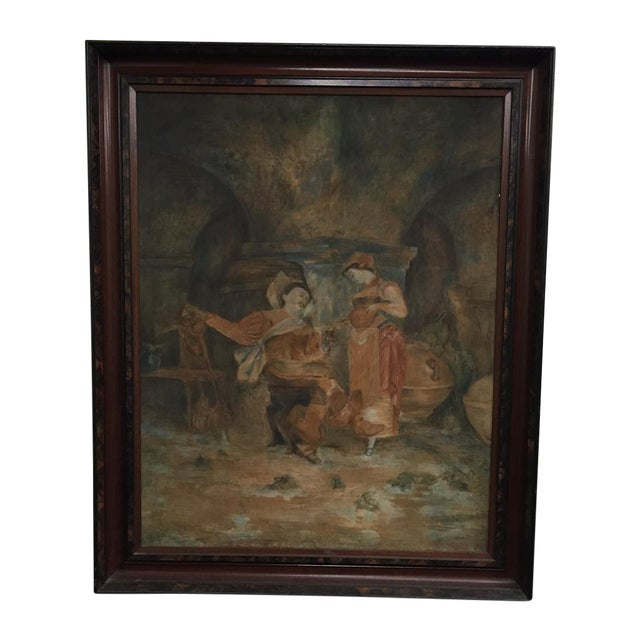 Medieval Couple Painting - Image 1 of 5