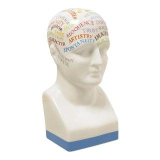 White Phrenology Head