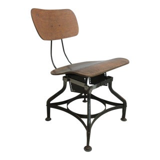 Vintage Industrial Toledo Drafting Side Chair