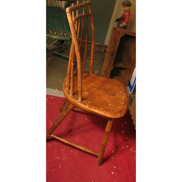 Antique Signed Samuel Gragg Windsor Chair - Image 8 of 11