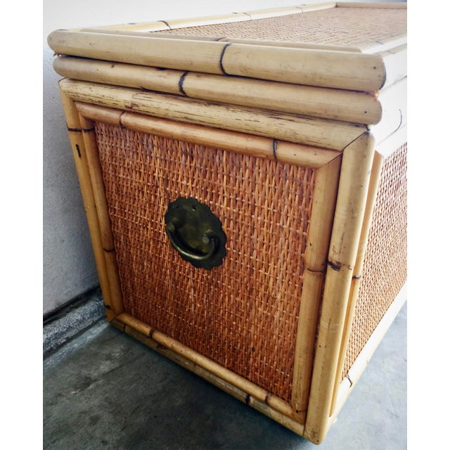 Image of Vintage Bamboo Trunk Blanket/Toy Chest