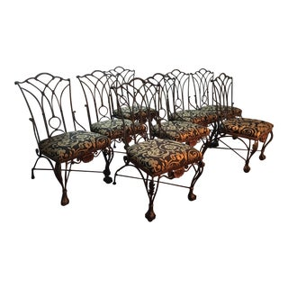 Vintage Gothic Dining Chairs - Set of 8