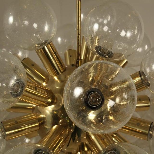 Several Robert Haussmann Brass Sputnik Pendants Holding Twenty Eight Bulbs - Image 9 of 10