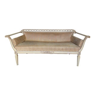 Vintage French Directoire Style Settee Sofa