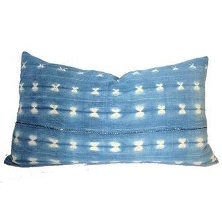 Vintage African Indigo Lumbar Pillow