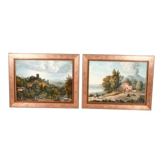 Pair of 19th Century Italian Landscape Paintings