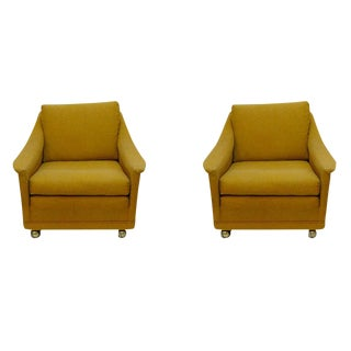 Paul McCobb-Style Mid-Century Modern Lounge Chairs - a Pair
