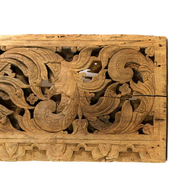 Image of 1700s Cambodian Carved Panel, Historic House Decor