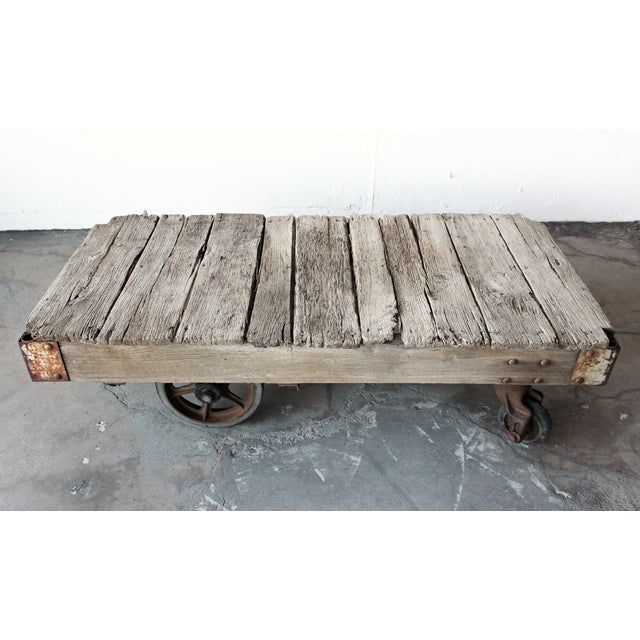 %name Railroad Cart Coffee Table Pottery Barn