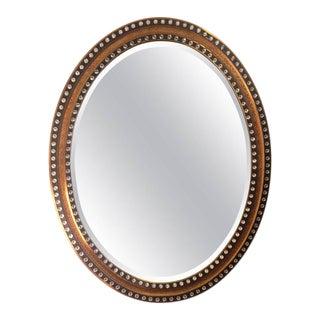 Regency Style Oval Black & Gold Mirror
