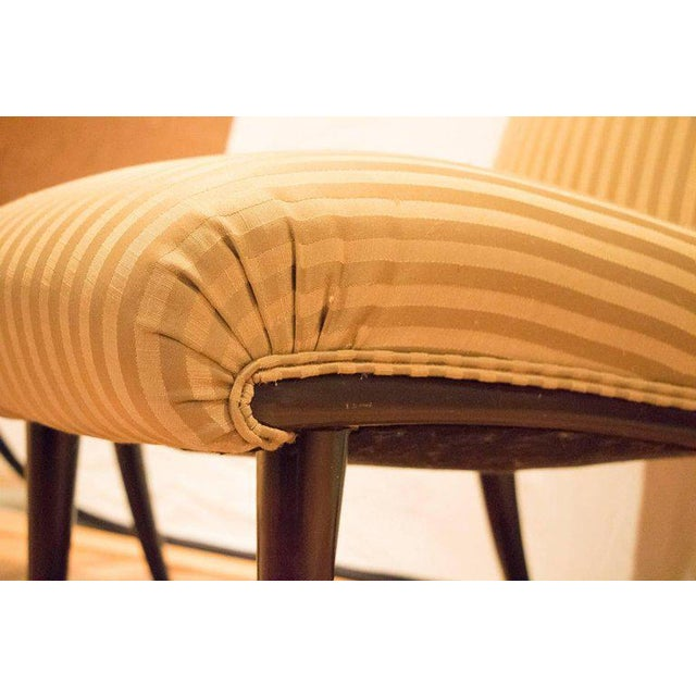 Viennese Biedermeier Style Art Deco Flare Slipper Chairs - a Pair - Image 4 of 9