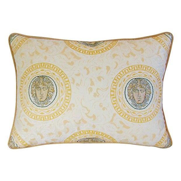 Designer Italian Versace-Style Medusa Pillow - Image 3 of 5