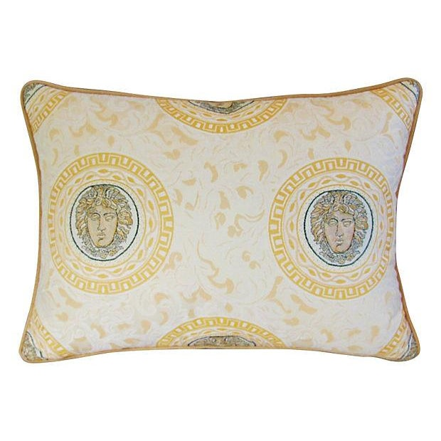 Image of Designer Italian Versace-Style Medusa Pillow