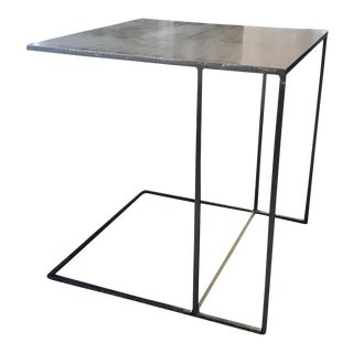 Minotti Leger Brushed Plate Metal Side Table