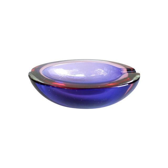 Image of Murano Pink & Purple Italian Sommerso Bowl/Ashtray