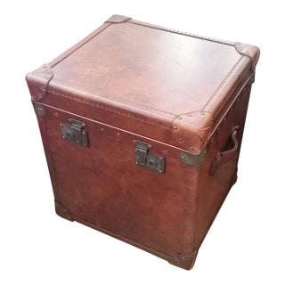 Artwood London Cigar Leather Trunk Side Table