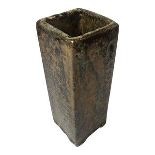 1963 Vintage Studio Pottery Square Vase