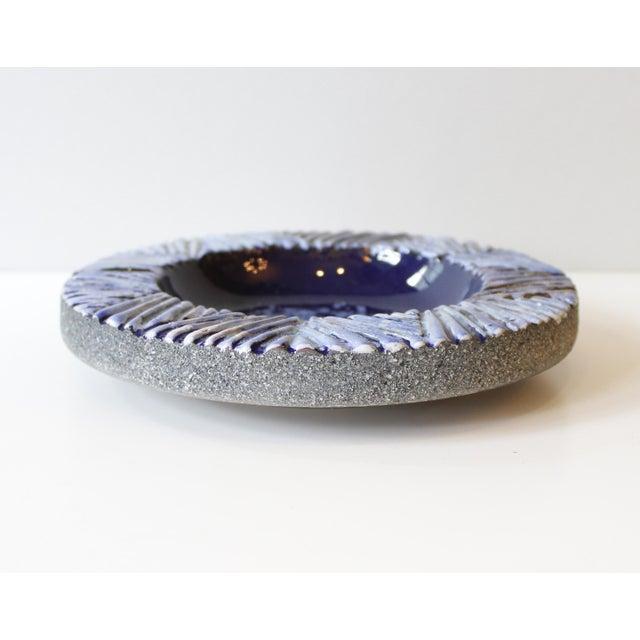Nittsjo Sweden Blue Ceramic Pottery Bowl - Image 4 of 5