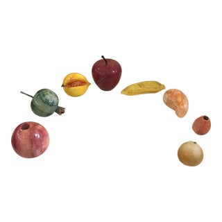 Mid-Century Modern Marble Fruit Figures - Set of 8