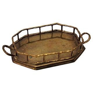 Brass Bamboo Style Vanity Tray